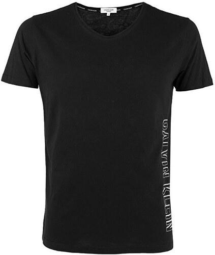 a00290d863 Calvin Klein Pánske tričko Rounded V-neck Tee KM0KM00333-001 Black ...