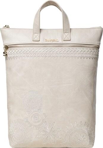 919193077f Desigual krémová 2v1 taška batoh Bols Dark Amber Baza - Glami.cz