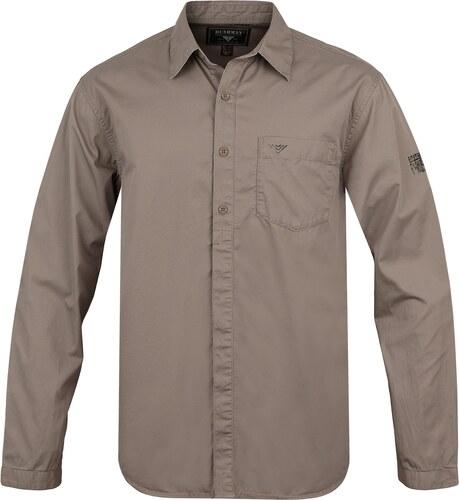 093472a27 Pánska košeľa BUSHMAN PELHAM svetlo hnedá M - Glami.sk