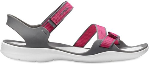 4917d37159db6 Dámske sandále Crocs SWIFTWATER WEBING ružová / sivá 36-37 - Glami.sk