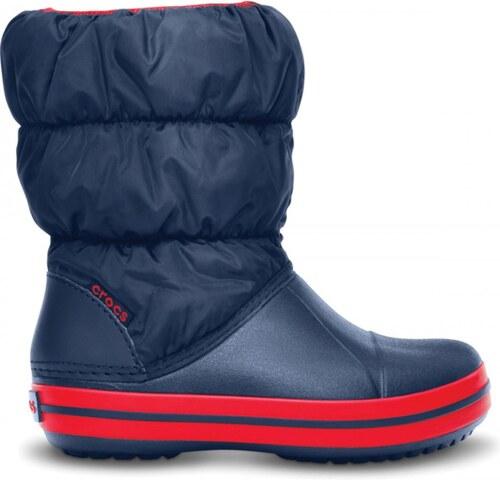 cb967c83c756 -15% Detské zimné topánky Crocs WINTER PUFF BOOT tmavo modrá   červená 27-28
