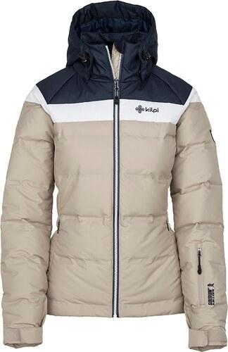 Dámska zimná páperová bunda Kilpi Synthia-W béžová (nadmerná veľkosť ... d25f6d25eac