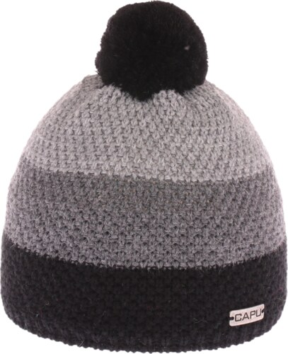 48f254d24 Detská zimná čiapka Capu 631 sivá / čierna - Glami.sk