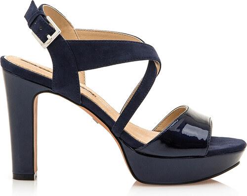 cb09cb5f7c Tmavě modré páskové sandály s nízkou platformou Maria Mare - Glami.cz