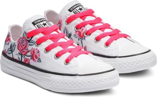 5cb4e093296a Converse kvetované dievčenské tenisky Chuck Taylor All Star - Glami.sk