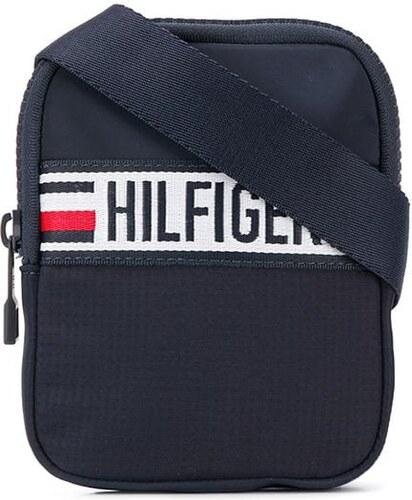a99cf768e Tommy Hilfiger logo stripe crossbody bag - Blue - Glami.cz