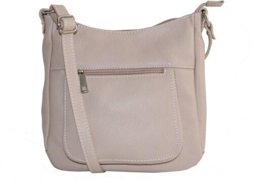 a9b7d3bccdff1 -10% Talianske kožené kabelky dámske cez rameno stredné ružové Zolana