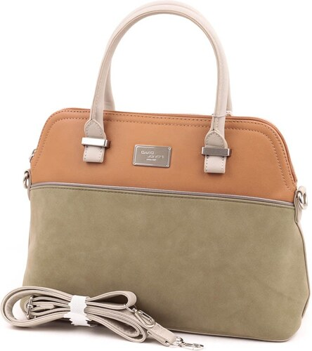 4546ed1cf141 David Jones zöld-barna-szürke női táska - Glami.hu