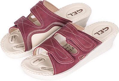 500fddc5c6f9 Vlnka manufacture s.r.o. Dámské gelové ortopedické nazouváky Červená  Velikost obuv dospělé 36