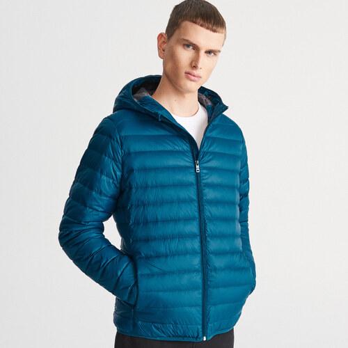 Reserved - Természetes pehelytollal bélelt kabát - Kék - Glami.hu 99a77b3ebb