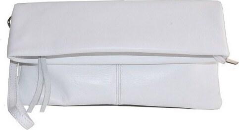 64c1187e67 TALIANSKE Talianska listové kožené kabelky malé do ruky biele Viola ...