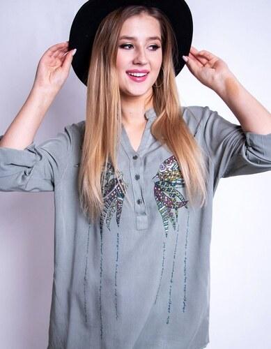 16c40c752c Brand Dámska košeľa AMELIA (dy0174) - zelená dy0174 - Glami.sk