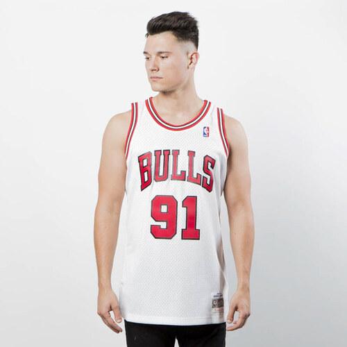 0598d092c Mitchell & Ness Chicago Bulls #91 Dennis Rodman white Swingman Jersey