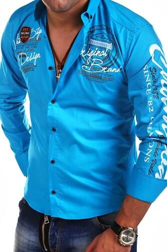 2b73d415ea71 MyTrends Pánská košile Violento Slim Fit AMBITION RH-420 - Glami.cz
