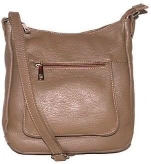 94ed6cefd4 Talianske kožené kabelky dámske cez rameno stredné taupe Zolana ...