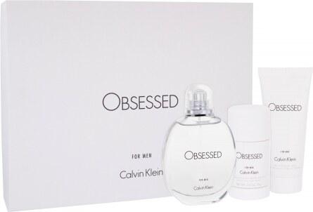 075a0289f8 Calvin Klein Obsessed For Men darčeková kazeta pre mužov toaletná voda 125  ml + sprchovací gél 100 ml + deostick 75 ml