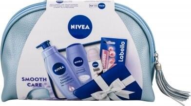 673113b385 -20% Nivea Creme Smooth darčeková kazeta pre ženy sprchovací gél 250 ml +  antiperspirant Invisible For Black