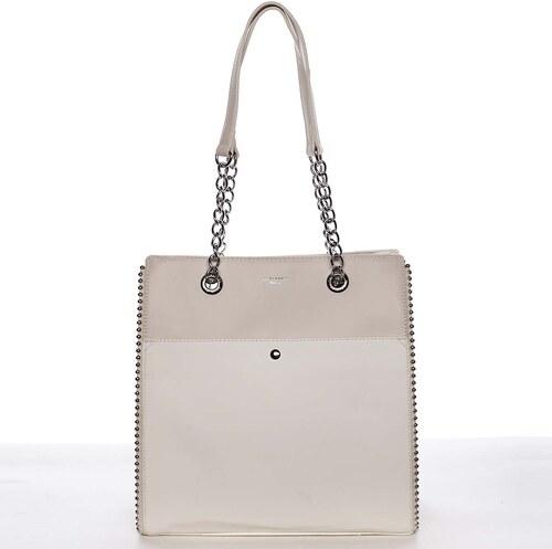 9aa6452eb3 Luxusní a originální dámská bílá kabelka přes rameno - David Jones Mishel  bílá