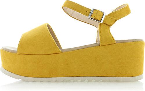 d6c5d144a9ce Ideal Žlté platformové sandále Sely - Glami.sk