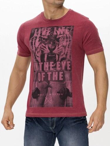 Pánské tričko s potiskem Smith & Jones - červené