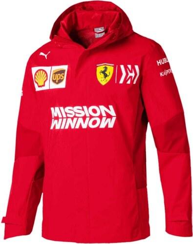 8cc30b2f58 Puma Ferrari pánska bunda s kapucňou Rain red F1 Team 2019 - Glami.sk