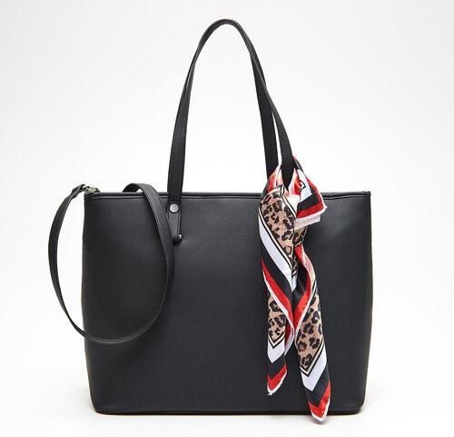 227ed8378d4d Cropp - Shopper taška so šatkou - Čierna - Glami.sk