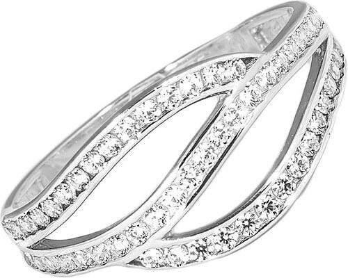 ea8b5687e GEMMAX Jewelry Zlatý bílý dámský prsten se zirkony - Glami.cz