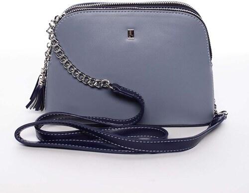 e4727723f5 Malá elegantná doplnková crossbody kabelka modrá - David Jones Karen modrá