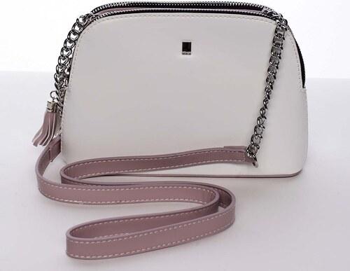 83a0109d4c Malá elegantná doplnková crossbody kabelka biela - David Jones Karen biela