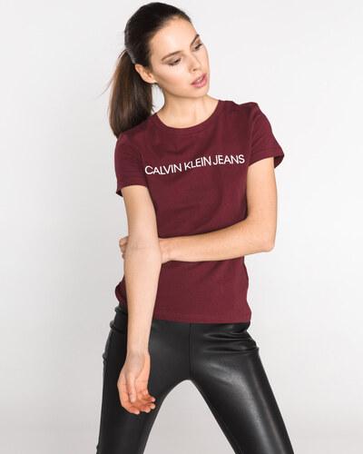 7b428ebf29 Calvin Klein dámské tričko vínové - Glami.cz