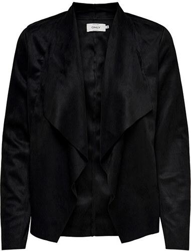 f26b4d230792 ONLY Dámske sako Fleur Drapy Faux Suede Jacket Black - Glami.sk