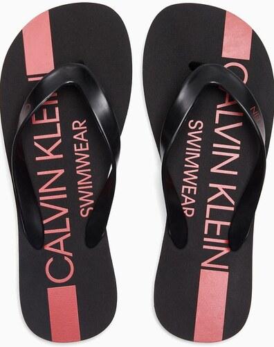 b03d027c4b110 Calvin Klein čierne pánske žabky FF Sandals - Glami.sk