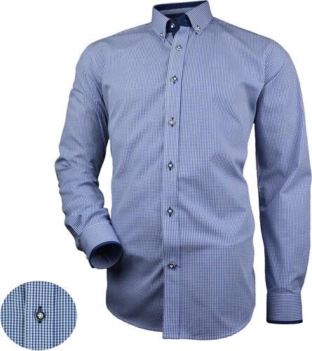 79b9777b94b3 Modrá košeľa Victorio pre moderných mužov V246 - Glami.sk