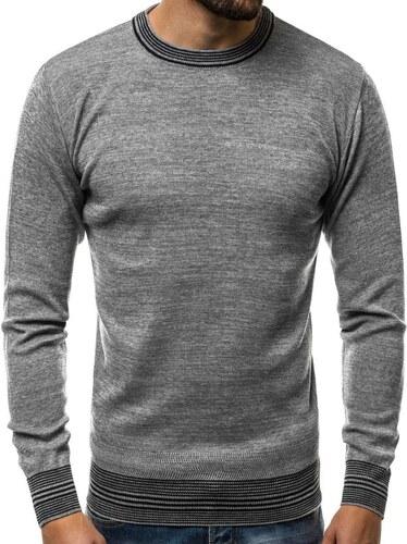 d113e29e7fff Buďchlap Štýlový pánsky sveter v šedej farbe HR 1832 - Glami.sk