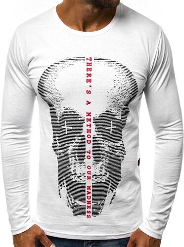 56fb810731c7 Buďchlap Moderné tričko s potlačou biele O 1216L - Glami.sk