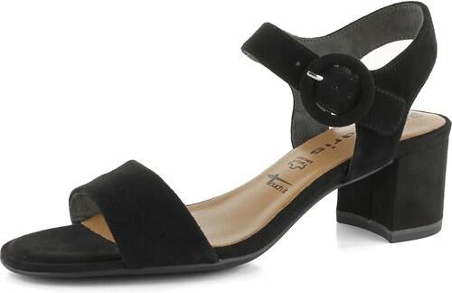 0f4f5fa6afed Tamaris sandály semišové černé 1-28324-22 - Glami.cz