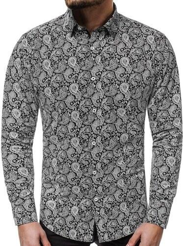 a3a972700d9d producent niezdefiniowany Čierna košeľa s módnym vzorom V K83 - Glami.sk