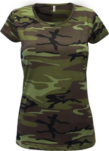 52489fb39bbf Alex Fox Dámske maskáčové tričko Camouflage - Glami.sk