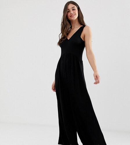 98446147ad5b ASOS Tall ASOS DESIGN Tall Curved smock jumpsuit - Black - Glami.sk