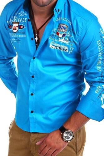 3da974115ec7 MyTrends Pánská košile Violento Slim Fit LAKE model RH-411 - Glami.cz