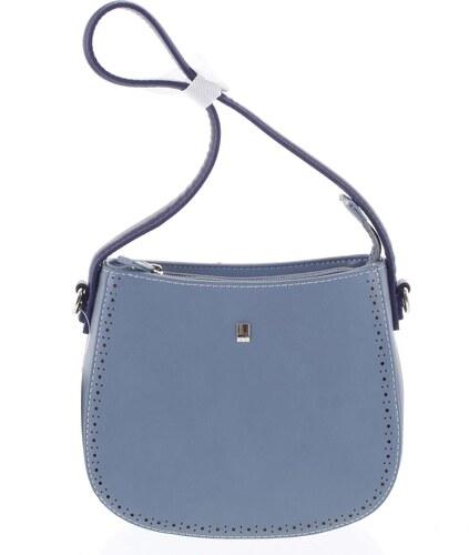 684e1cbf8a Elegantná listová crossbody kabelka modrá - David Jones Brigitte modrá
