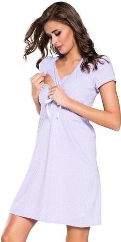 0b854717c37f Italian Fashion Bavlnená tehotenská nočná košeľa Alena svetlo fialová