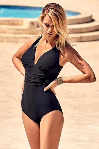 36223170c0 Miradonna Veronica alakformáló olasz egyrészes fürdőruha fekete ...