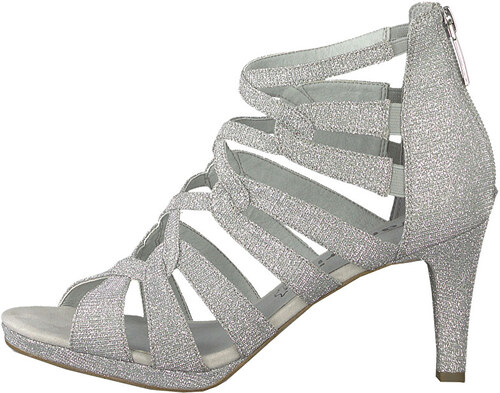 cd3df0535234 Tamaris Dámske sandále 1-1-28353-22-919 Silver Glam - Glami.sk
