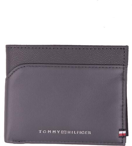 d440654329 ... Tommy Hilfiger sivá pánska kožená peňaženka BI-Material Mini CC Wallet  Smoked Pearl