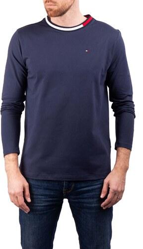 d44cf87f3b94 Tommy Hilfiger tmavě modré pánské tričko CN LS Tee - M - Glami.cz
