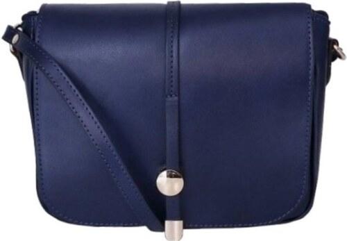 463c96527f ... TALIANSKE Talianska kožená kabelka crossbody stredne veľká Talianska  modrá Aurelia