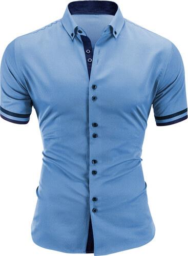 6f7e1f6b82a7 Ombre Clothing Pánska košeľa Reijo modrá - Glami.sk