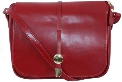 2768e7ceda TALIANSKE Talianska dámska kožená kabelka crossbody červená Aurelia ...