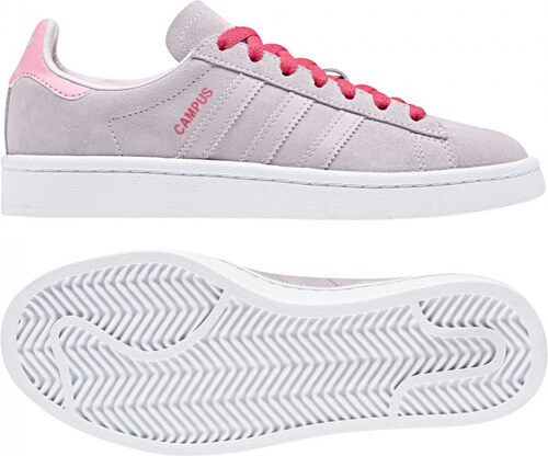 392ac76e63dbc Detské tenisky adidas Originals CAMPUS J (Ružová / Tmavo růžová ...